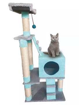 Casa para gatos forrada