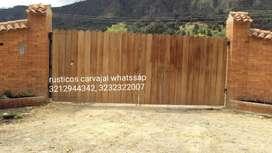 Puertas Y Portadas en Rustico
