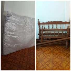 remate 2 cama catres de madera +colchon