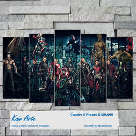 Superheroes Cuadros Decorativos avengers marvel