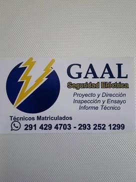 Electricista matriculado con registro municipal