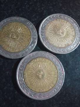 Vendo 3 monedas de 1 peso con erros