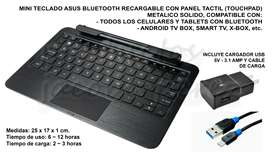 Teclado Mini Asus Bluetooth Recargable + Cargador 3amp