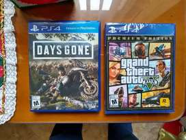 GTA 5 Y Days gone ps4