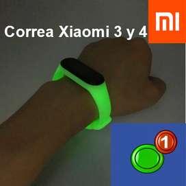 Correa BRILLANTE para Xiaomi mi band 3 y 4