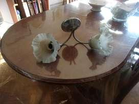 Aplique Para Baño 2 Luces Con Forma De Flor