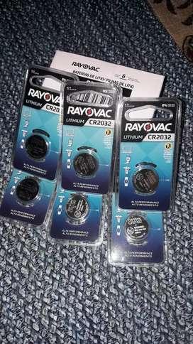Pilas nuevas marca Rayovac