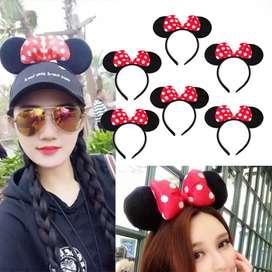 6 Diademas Minnie Mickey Orejas Ratona Halloween Disney