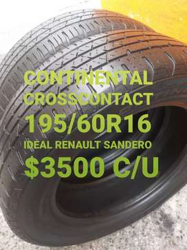 Neumaticos continental cross lx 195/60r16
