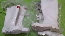 Botas plásticas industriales Blancas 1 Par, Talla 36. UNISEXO