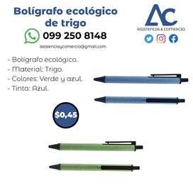 Bolígrafo ecológico de trigo