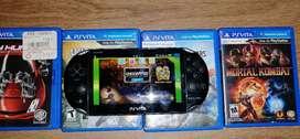 PlayStation Vita con 4 juegos