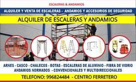 ALQUILER DE ESCALERAS TELESCOPICAS Y TIJERAS