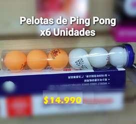 PELOTAS DE PING PONG PARA TENIS DE MESA X6