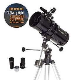 Telescopio Celestron Powerseeker 127eq+Soporte para celular de regalo