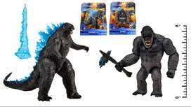 Figura Muñeco Godzilla Vs King Kong Pack Juguete Colección 1