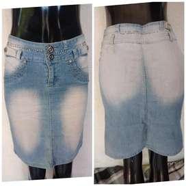 Vendo falda de jeans talla 5/6