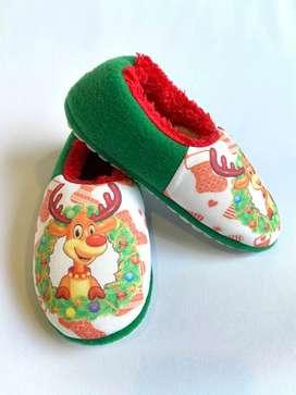 Pantuflas O Babuchas Navideñas Papá Noel 34 A 42