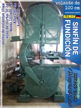 SINFÍN DE CARPINTERÍA DE FUNDICIÓN 100 cm (máquina fábrica mueble sierra sin fin aserradero)