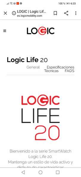Vendo reloj smartphone logic life 20