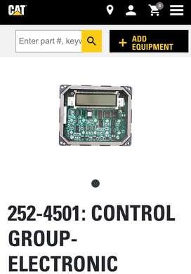 Control gp caterpillar electronica maquinaria pesada 252-4501