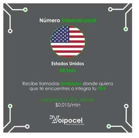 Número Internacional Voip - Estados Unidos - Telefonía Ip