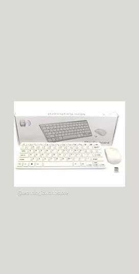 Mini teclado + Mouse Inalámbrico