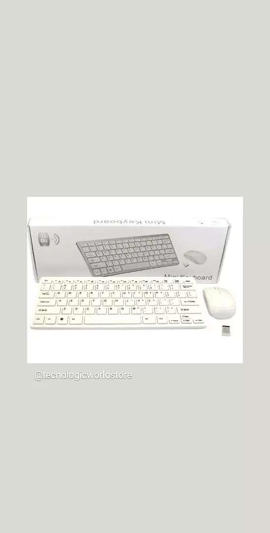Mini teclado + Mouse Inalámbrico 0