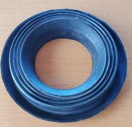 Pieza de goma junta flexible reten negra 9,5 cm
