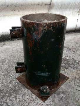 Cilindros metálicos para toma muestras de concreto