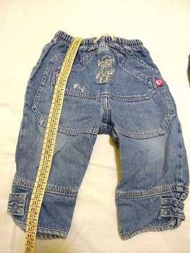 Pantalon jean mame 3 azul LEER muchos recortes poco uso perfecto