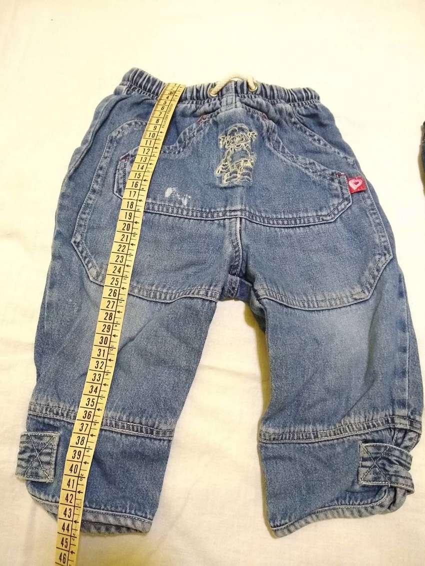 Pantalon jean mame 3 azul LEER muchos recortes poco uso perfecto 0
