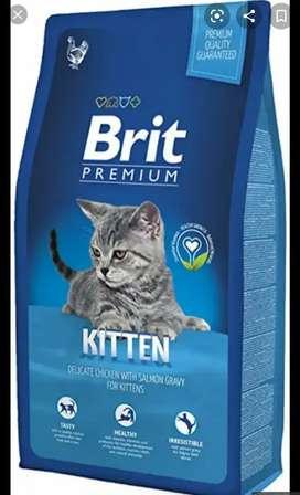 Comida Brit Premium para gatos pequeños de 8kg.