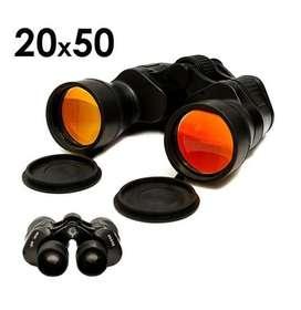 Binoculares Prismáticos 20x50 Brújula Con Estuche