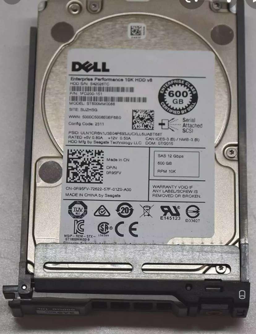 VENDO DISCOS DELL SAS 600GB RPM 10K 0