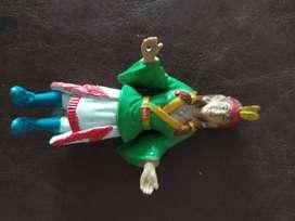 antiguo muñeco diosa india de 8 cm