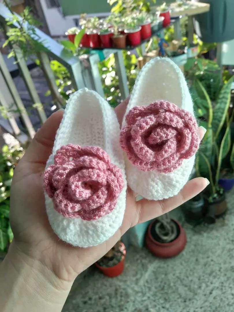 Zapaticos en crochet para bebés 0
