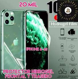 Protector hidrogel frontal y trasero iPhone 6-6s