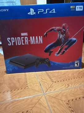 PS4 1TB  Spiderman  1 Joystick Como Nueva