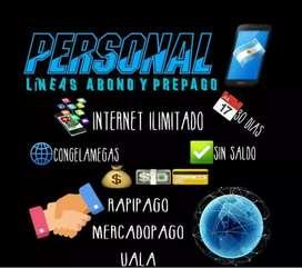 Megas ilimitados en personal!!