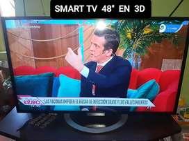 """SMART TV 3D.. 48"""" MÁS BLUREY"""