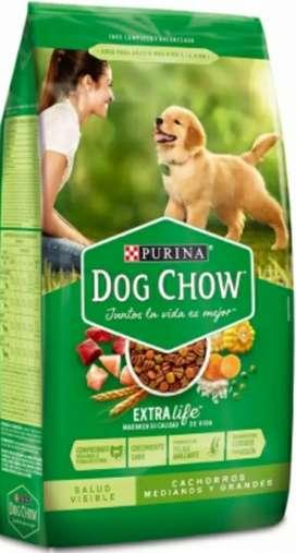 Dog Chow Cachorros Medianos y Grandes 22 Kg