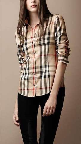 Luxury Fashion | Camisa A Cuadros Café