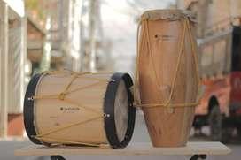 bombo y cununo  kit de tambores marca Tonson, tambores del pacifico.