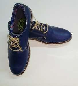 Zapato en Cuero Azul