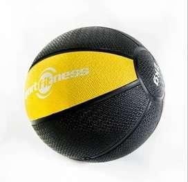 Balón Medicinal De Rebote De 2 Kilos - Amarillo Gym Sportfitness