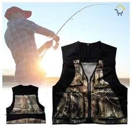 Chaleco para pesca deportiva táctico camuflado NUEVO