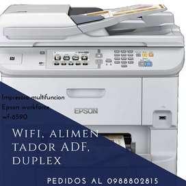 Impresora multifuncion Epson workforce wf-6590 wifi Duplex