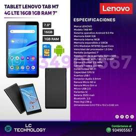 Tablet Lenovo TAB M7 7Pulg 4G LTE(CHIP) Multi-Touch Android 9.0 Wi-Fi /Bluetooth/4G LTE