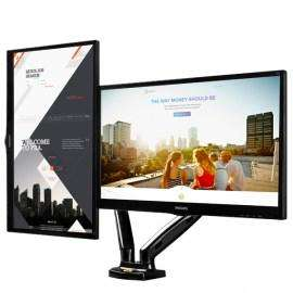 Soporte hidraulico de doble pantalla pata tv o monitores